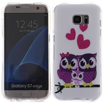 Uil Familie TPU Hoesje Samsung Galaxy S7 Edge