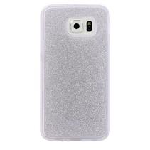 Zilver Glitters TPU Hoesje Samsung Galaxy S7 Edge