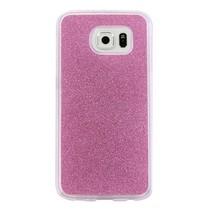 Roze Glitters TPU Hoesje Samsung Galaxy S7 Edge