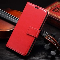 Rood Bookcase Hoesje Samsung Galaxy S7