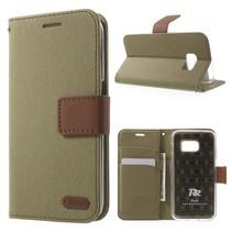 Diary Khaki Bookcase Hoesje Samsung Galaxy S7