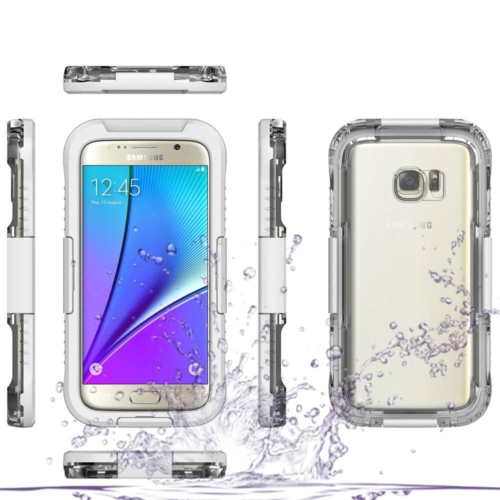 Wit Waterdicht Hoesje Samsung Galaxy S7