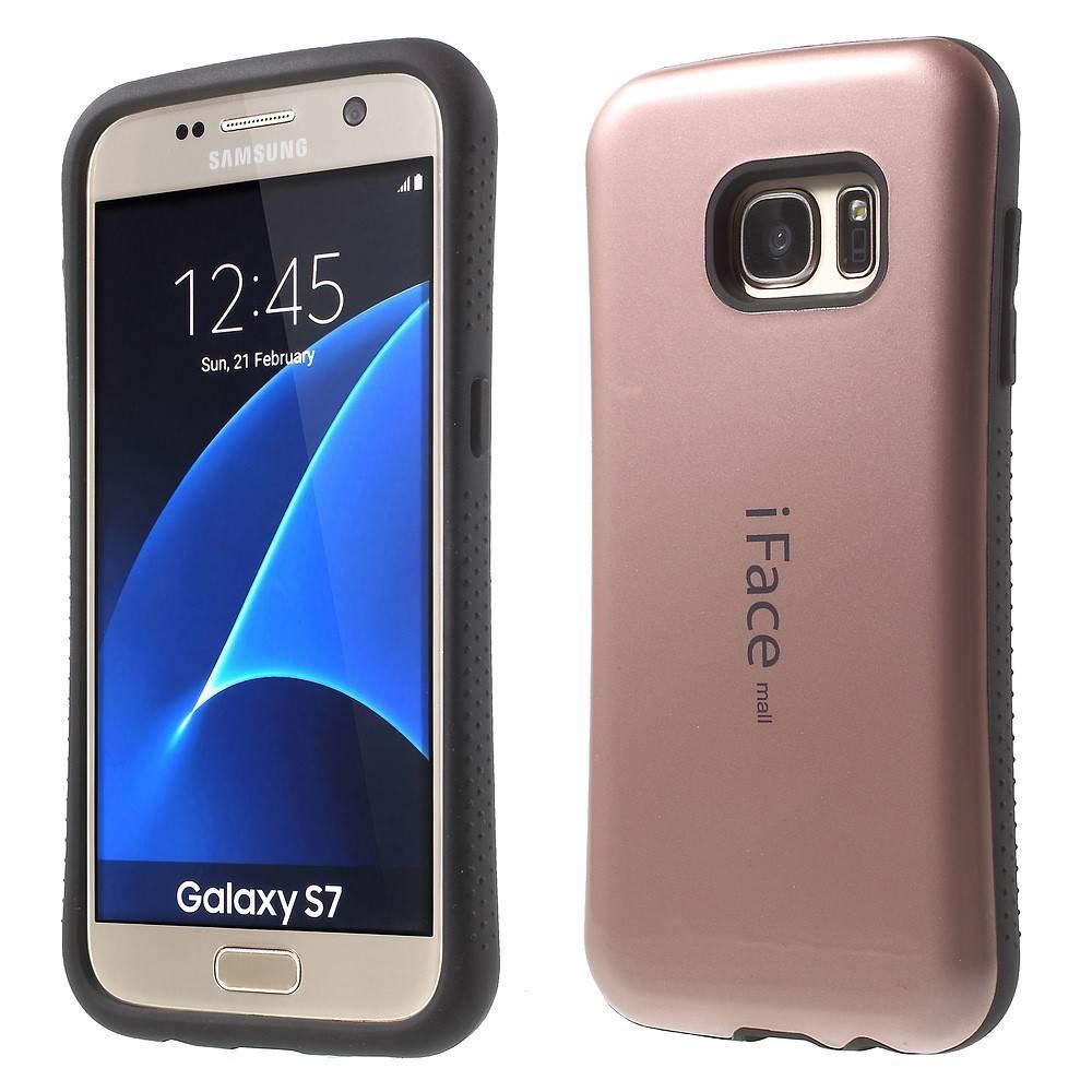 Roze Goud Hybrid Hoesje Samsung Galaxy S7