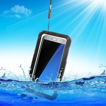 Zwart Waterdicht Hoesje Samsung Galaxy S7 Edge
