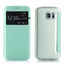 Mintgroen Venster Bookcase Hoesje Samsung Galaxy S7 Edge