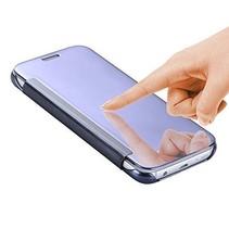 Blauw Mirror Bookcase Hoesje Samsung Galaxy S7