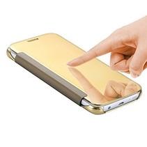 Goud Mirror Bookcase Hoesje Samsung Galaxy S7