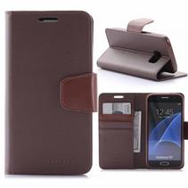Sonata Bruin Bookcase Hoesje Samsung Galaxy S7