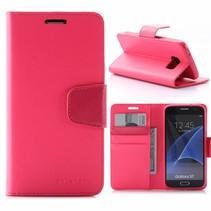 Sonata Roze Bookcase Hoesje Samsung Galaxy S7
