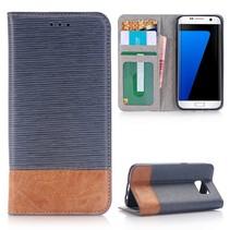 Grijs Duocolor Bookcase Hoesje Samsung Galaxy S7