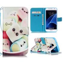 Marshmallows Bookcase Hoesje Samsung Galaxy S7