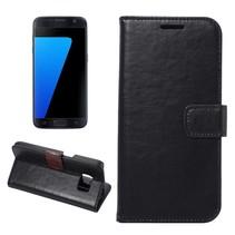 Zwart Glad Bookcase Hoesje Samsung Galaxy S7