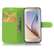 Groen Litchi Bookcase Hoesje Samsung Galaxy S7