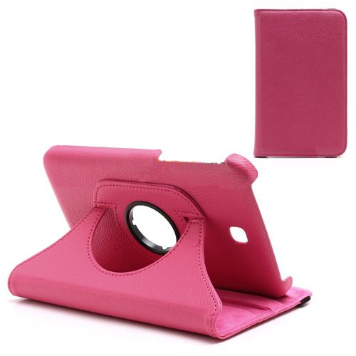 Roze draaibare hoes Samsung Galaxy Tab 3 7.0