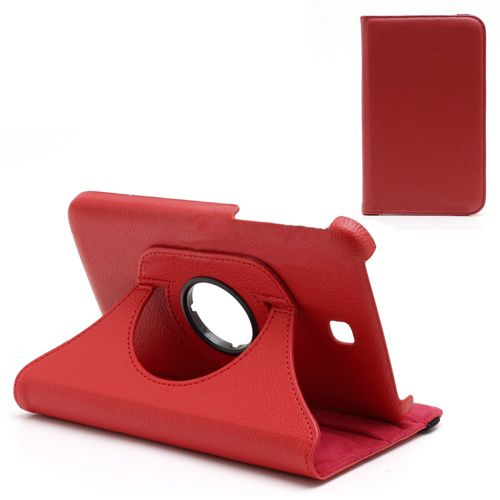 Rode draaibare hoes Samsung Galaxy Tab 3 7.0