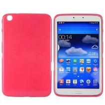 Donkerroze TPU hoes Samsung Galaxy Tab 3 8.0