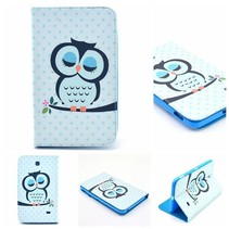 Slapende uil flipstand hoes Samsung Galaxy Tab 4 7.0