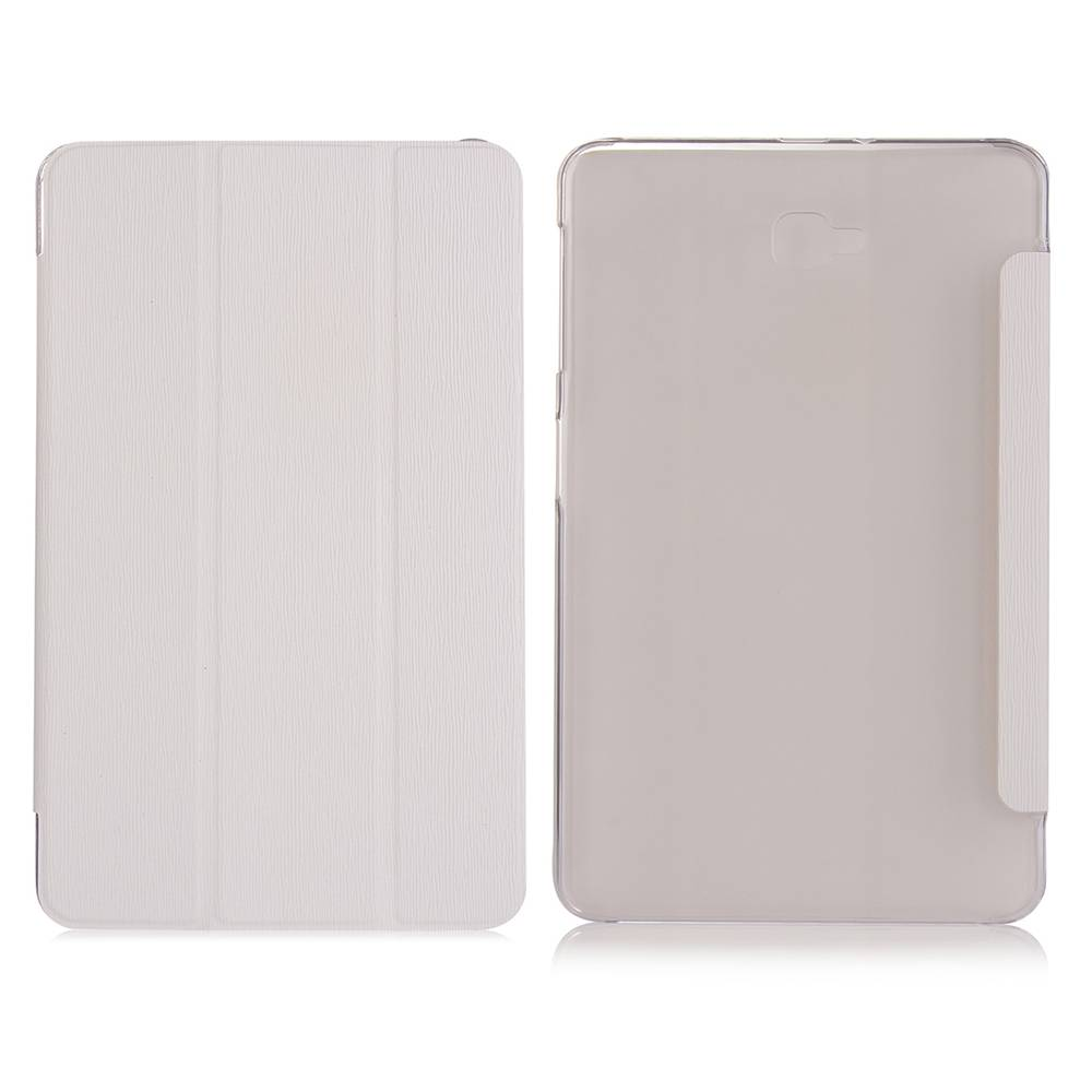 Witte Trifold Hoes Samsung Galaxy Tab A 10.1