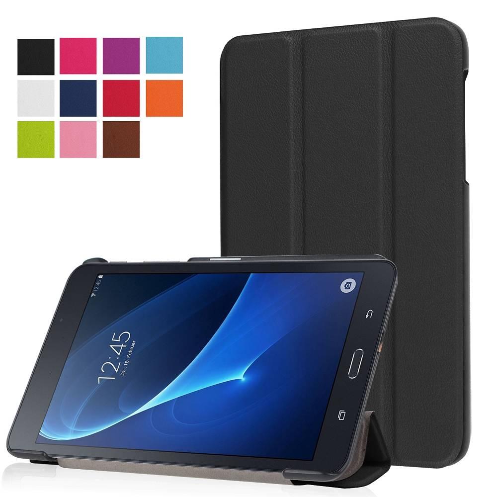 Zwarte Trifold Hoes Samsung Galaxy Tab A 7.0