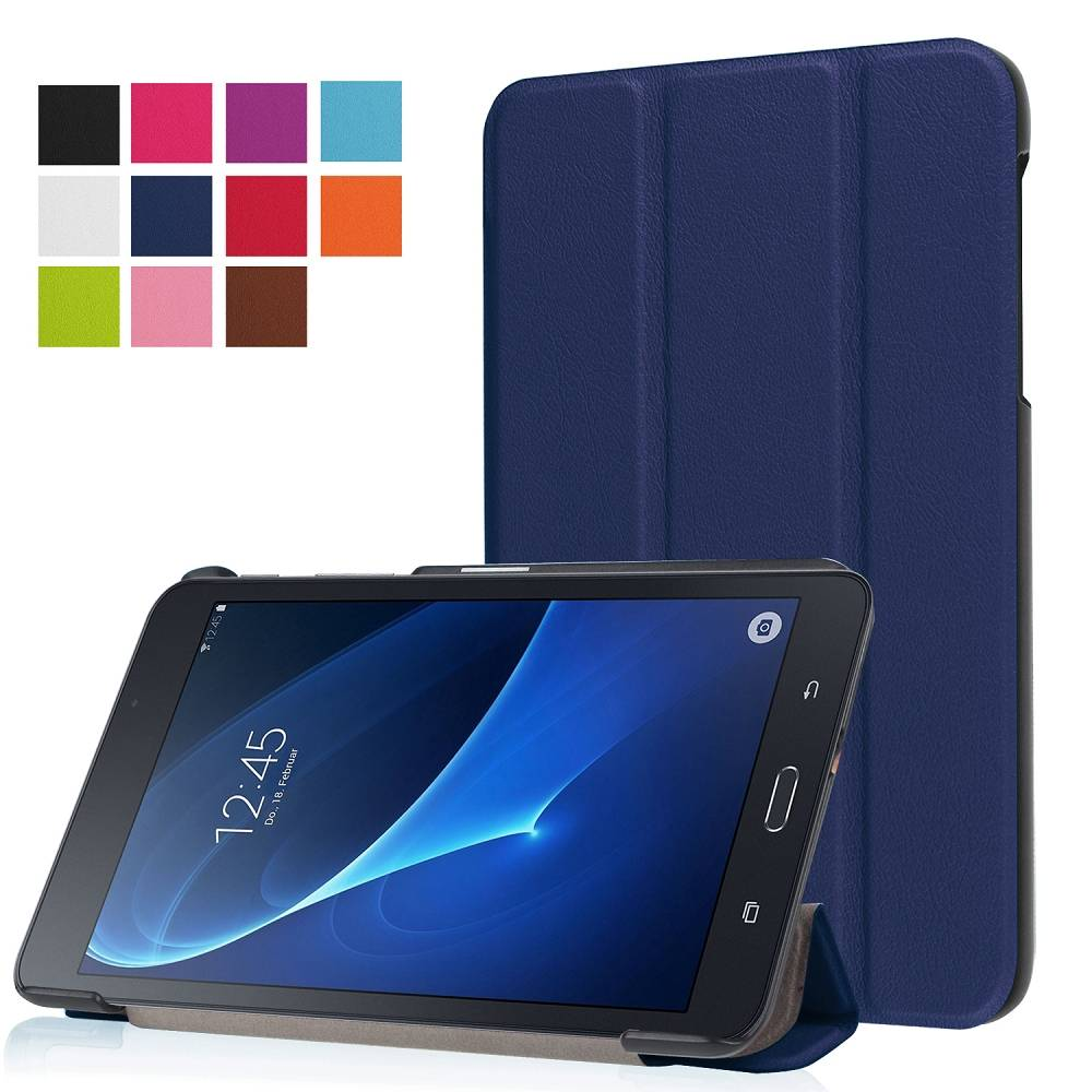 Blauwe Trifold Hoes Samsung Galaxy Tab A 7.0
