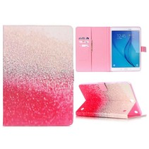 Roze spikkels flipstand hoes Samsung Galaxy Tab A 9.7