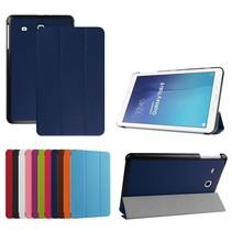 Blauwe tri-fold hoes Samsung Galaxy Tab E 9.6
