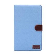 Lichtblauwe denim flipstand hoes Samsung Galaxy Tab S 8.4