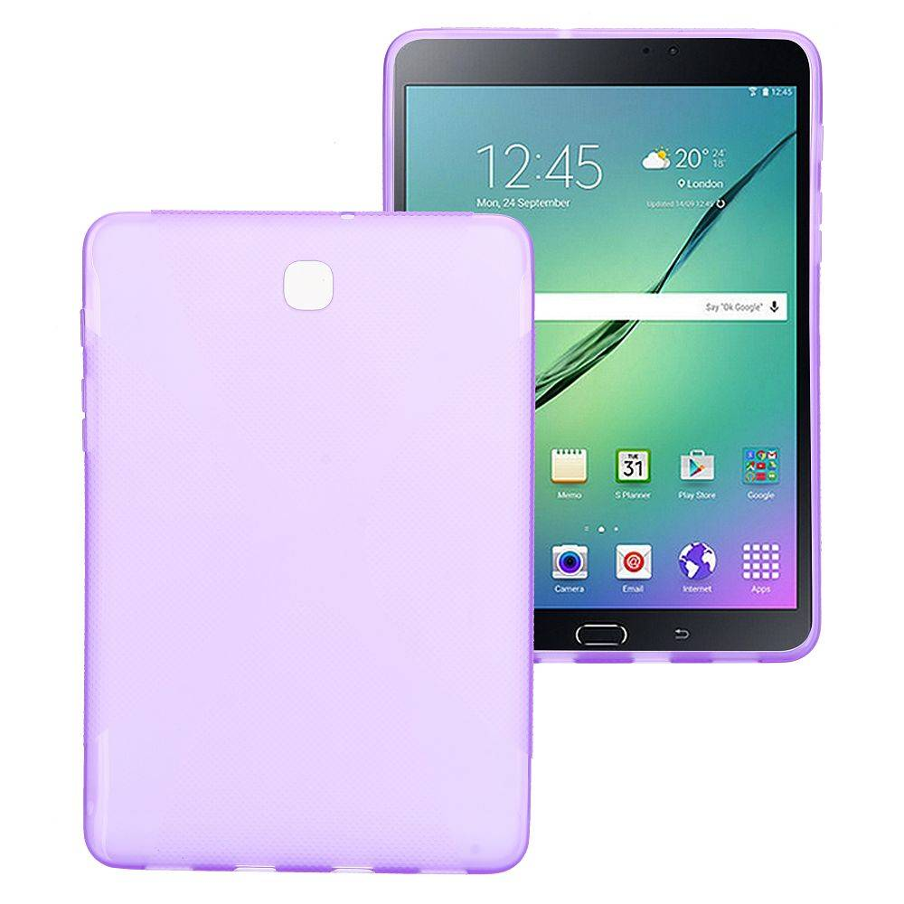 Paarse x-design TPU hoes Samsung Galaxy Tab S2 8.0