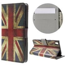 Britse Vlag Bookcase Hoesje Sony Xperia E5