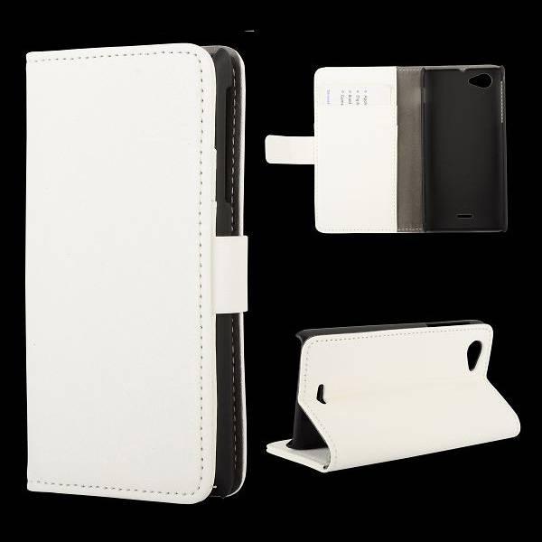 Wit Booktype  hoesje Sony Xperia J