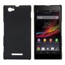 Zwart hardcase hoesje Sony Xperia M