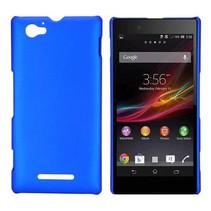 Blauw hardcase hoesje Sony Xperia M