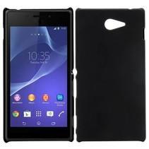 Zwart hardcase hoesje Sony Xperia M2