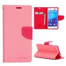 Goospery Roze Bookcase Hoesje Sony Xperia M5