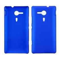 Blauw hardcase hoesje Sony Xperia SP
