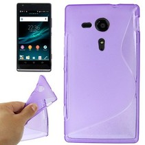 Paars S-design TPU hoesje Sony Xperia SP