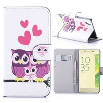 Uil Familie Bookcase Hoesje Sony Xperia X