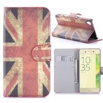 Britse Vlag Bookcase Hoesje Sony Xperia X