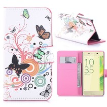 Vlinders Bookcase Hoesje Sony Xperia X