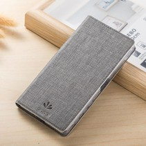 Grijs Slim Bookcase Hoesje Sony Xperia X Performance