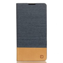 Donkergrijs Slim Bookcase Hoesje Sony Xperia XA