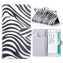 Zebra Bookcase Hoesje Sony Xperia XA