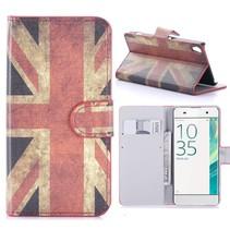 Britse Vlag Bookcase Hoesje Sony Xperia XA