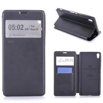 Zwart Venster Bookcase Hoesje Sony Xperia XA Ultra