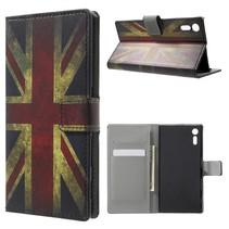 Britse Vlag Bookcase Hoesje Sony Xperia XZ