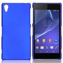 Mat blauw hardcase hoesje Sony Xperia Z2