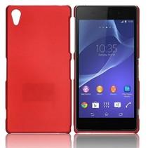 Mat rood hardcase hoesje Sony Xperia Z2