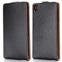 Zwarte Flip Case hoes Sony Xperia Z3
