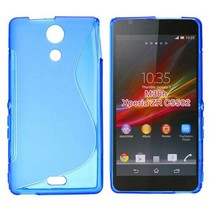Blauw S-design TPU hoesje Sony Xperia ZR