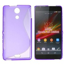 Paars S-design TPU hoesje Sony Xperia ZR
